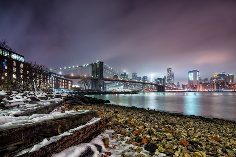 Snowy Brooklyn York City skylin - joelcorrente | ello