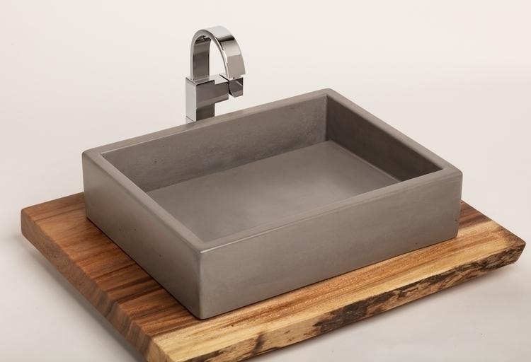 concrete sink - handmade vessel - opusconcrete   ello
