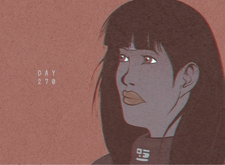 Day 270/365: Star Gaze - illustration - 1sles | ello