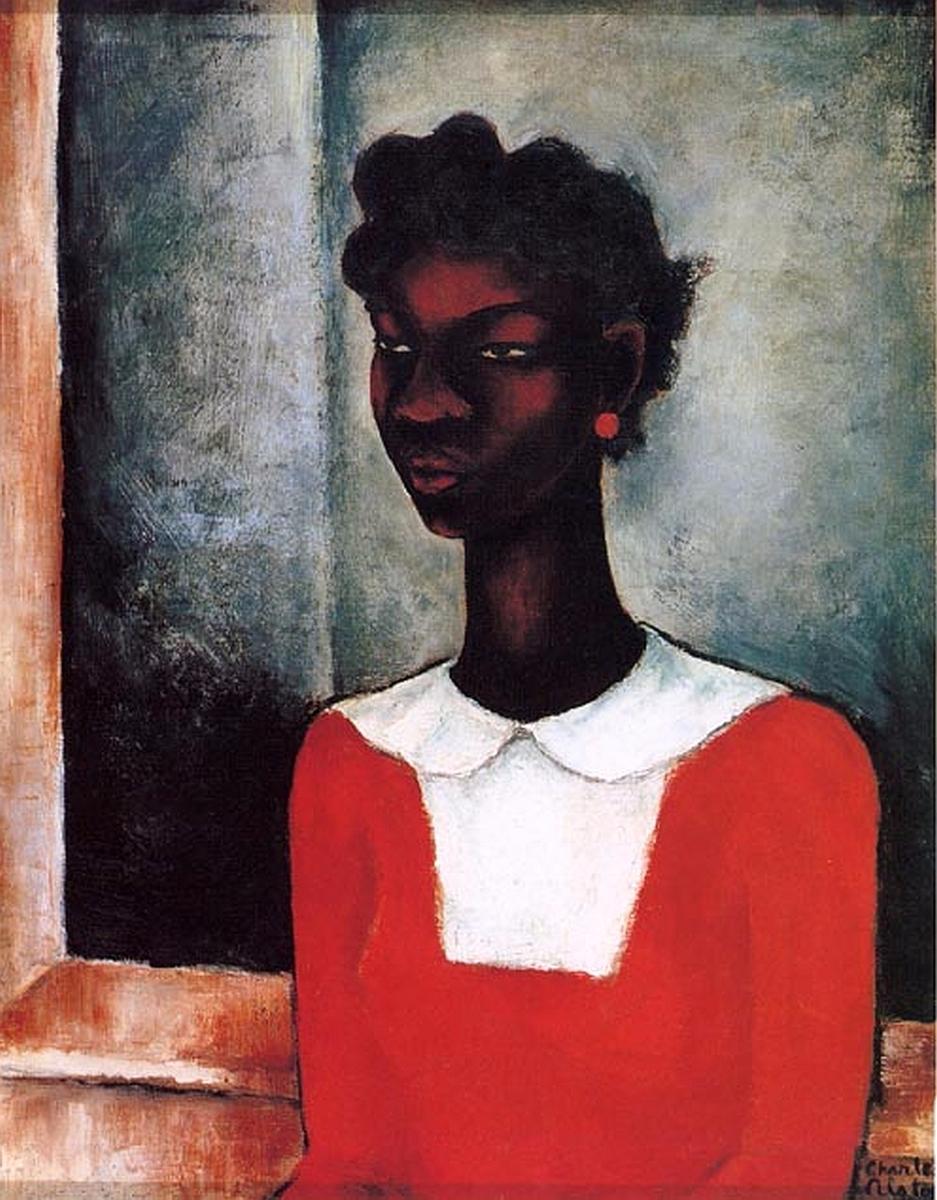 Charles Alston Girl Red Dress,  - blackartmatters | ello