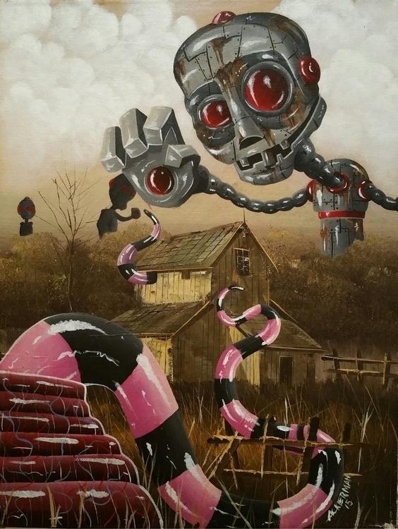 place death Acrylic canvas 16x2 - jasonackerman | ello