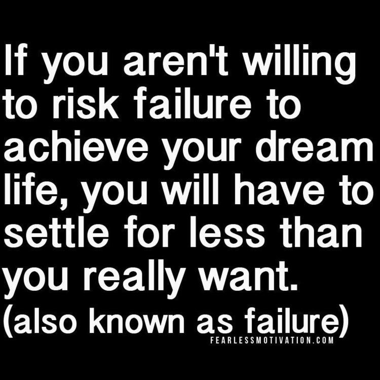 risk failure achieve dream, SET - esquirephotography | ello