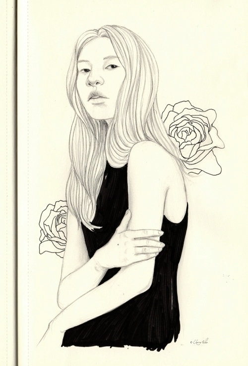Roses - drawing, sketch, sketchbook - j0eyg1rl   ello