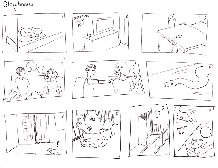 storyboard ft. lucy ball python - tatyanakornilova | ello