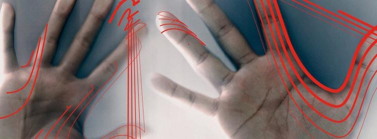 hand, red, lines - renanferreira | ello