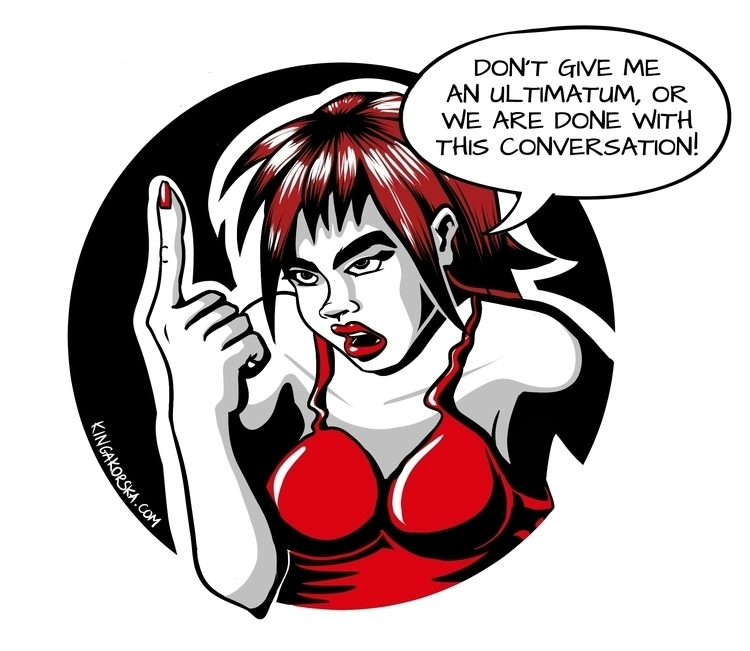 give - ultimatum!, paradox, absurd - kkorska | ello