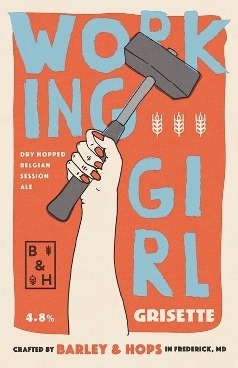 Working Girl grisette poster - illustration - bryanbaltz | ello