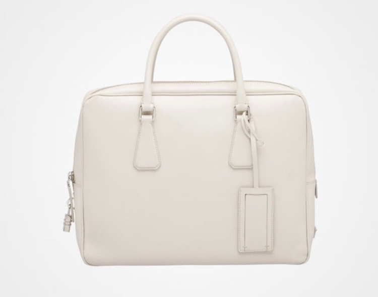 PRADA briefcase chalk white Pri - 2beornot2be | ello