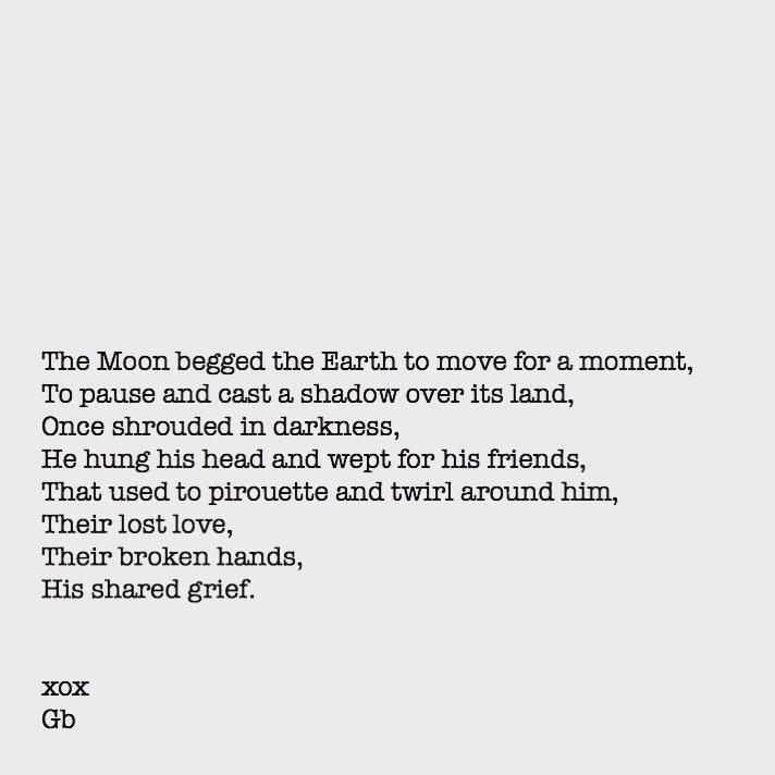 'Tis lonesome moon weeps tonigh - goldenbirdiewrites | ello