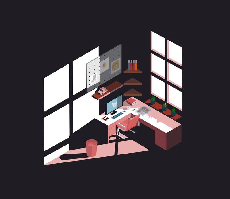 Workspace illustration Inkscape - ozant291 | ello