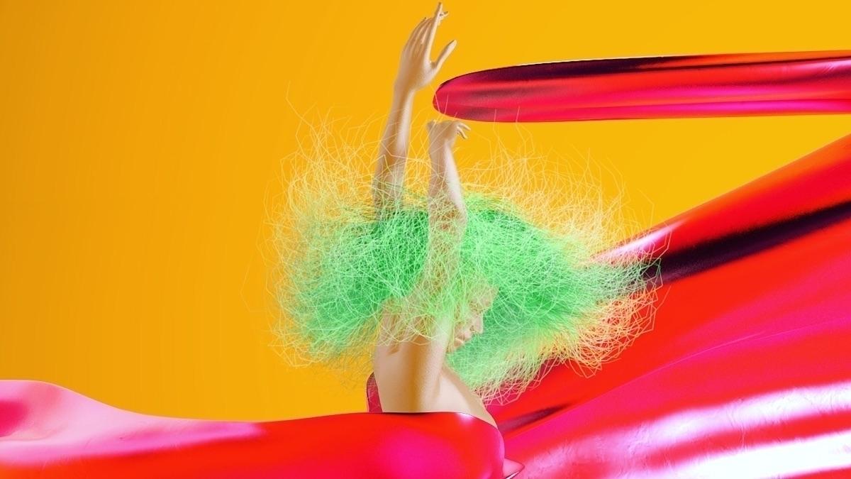 moves - cgi#c4d#3d#digitalart#render#graphic#design#colourful#vaporwave#contemporary - bambikirschner | ello