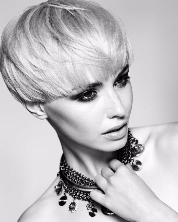 shorthaired, blonde, monochrome - xxm | ello