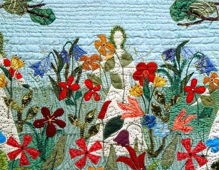 Graces Spring - textile art - bozena_wojtaszek | ello