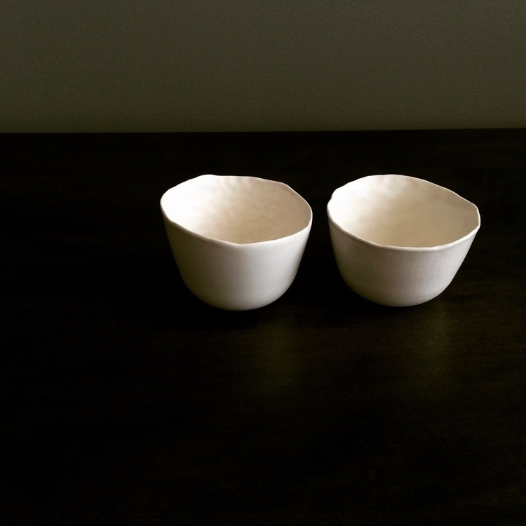 wheel-thrown cups - ceramics, porcelain - esselhaus | ello