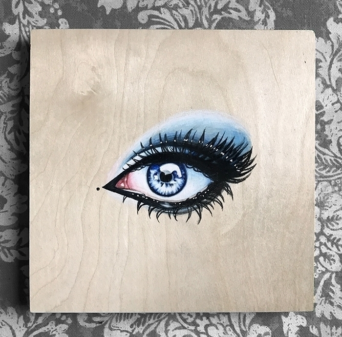 Lovers Eye Colored Pencil Wood  - auniakahn | ello