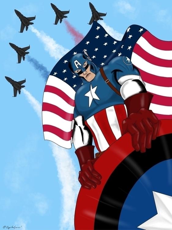 captainamerica, avengers, marvelcomics - capitanpencil | ello