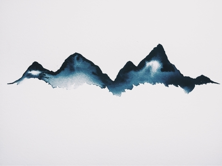 Watercolour mountains 03/17 - vancouver - reaylouise | ello