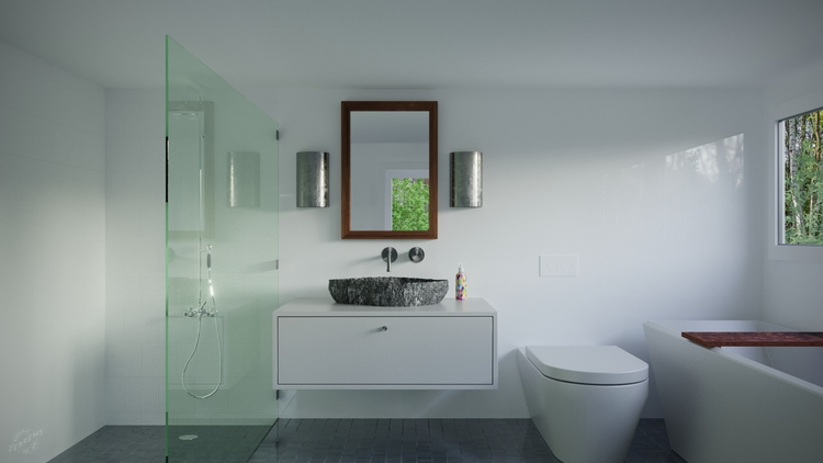 'Bathroom - coronarender, cinema4d - bengaminjerrems | ello