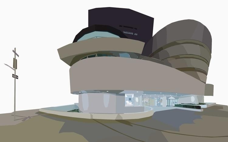Solomon Guggenheim Museum Part  - sophieillustration | ello