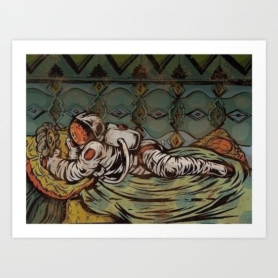 Space Odalisque, Prints Society - thomcat23 | ello