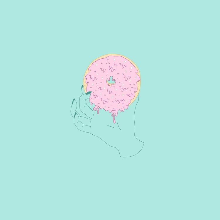 IG - donut, junkfood, illustration - margoshmargo | ello