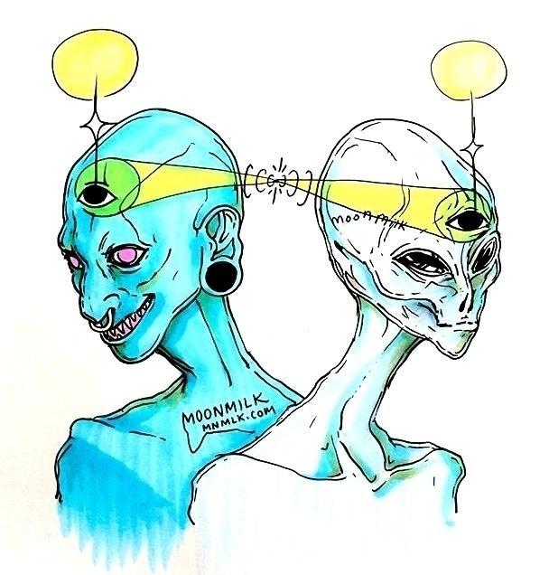 Cool alien friends fun conversa - moonmilkbabies   ello
