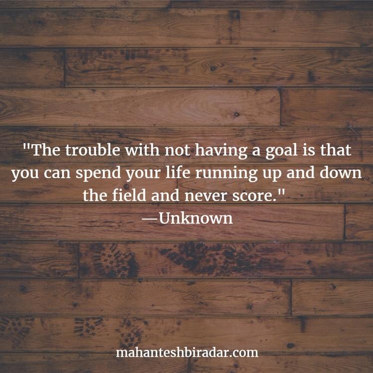 trouble goal spend life running - dailyinspiration | ello