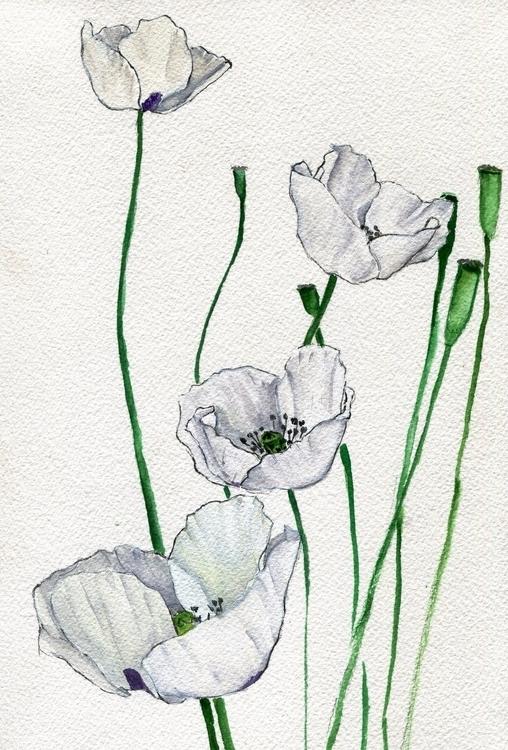 Cloud Bound Watercolor, Gouache - havekat | ello