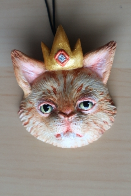 Commission cat pendent - kitty, kitten - skeenep | ello