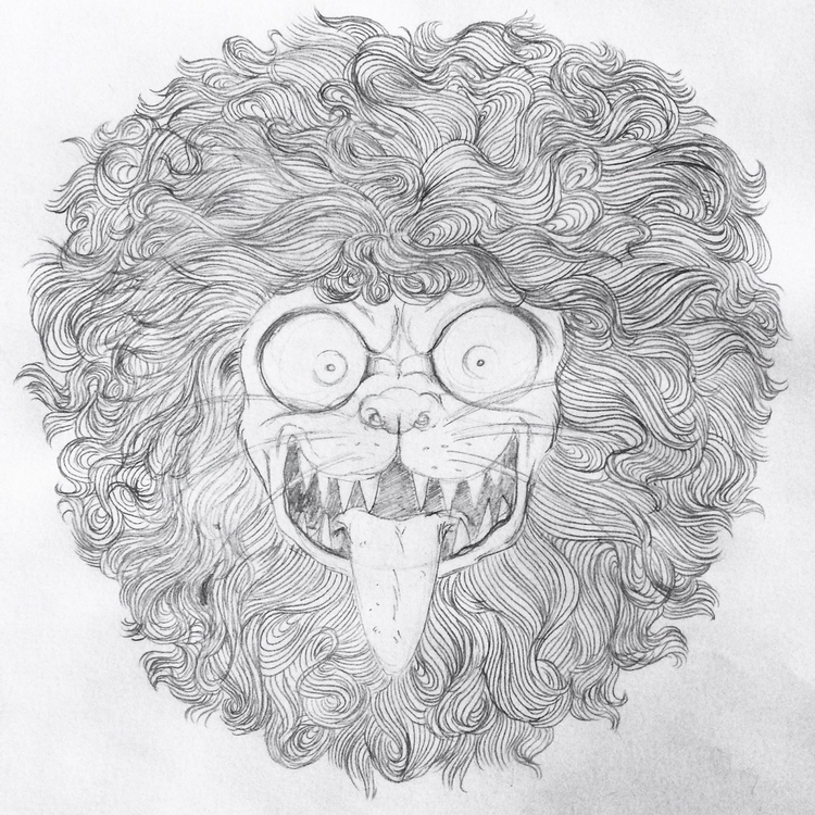 lion, sketch, sketchbook, draw - skeenep | ello