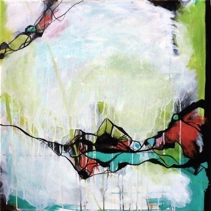Agate 24x24 Oil Canvas digging  - cogwurx | ello