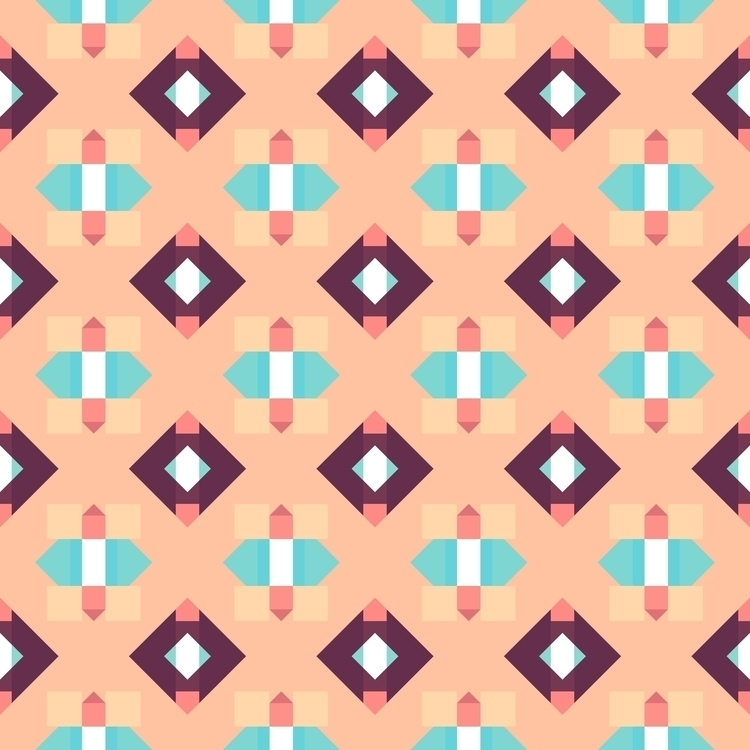 pattern created Matrices iOS - generative - hyperglu   ello