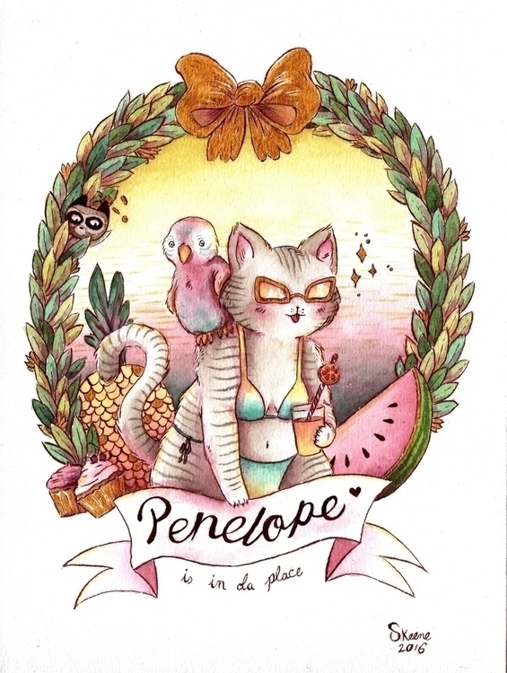 cat, parrot, cupcakes, food, penelope - skeenep | ello
