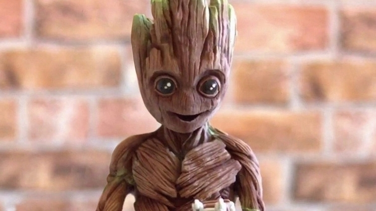 Chocolate Baby Groot adorably d - bonniegrrl | ello