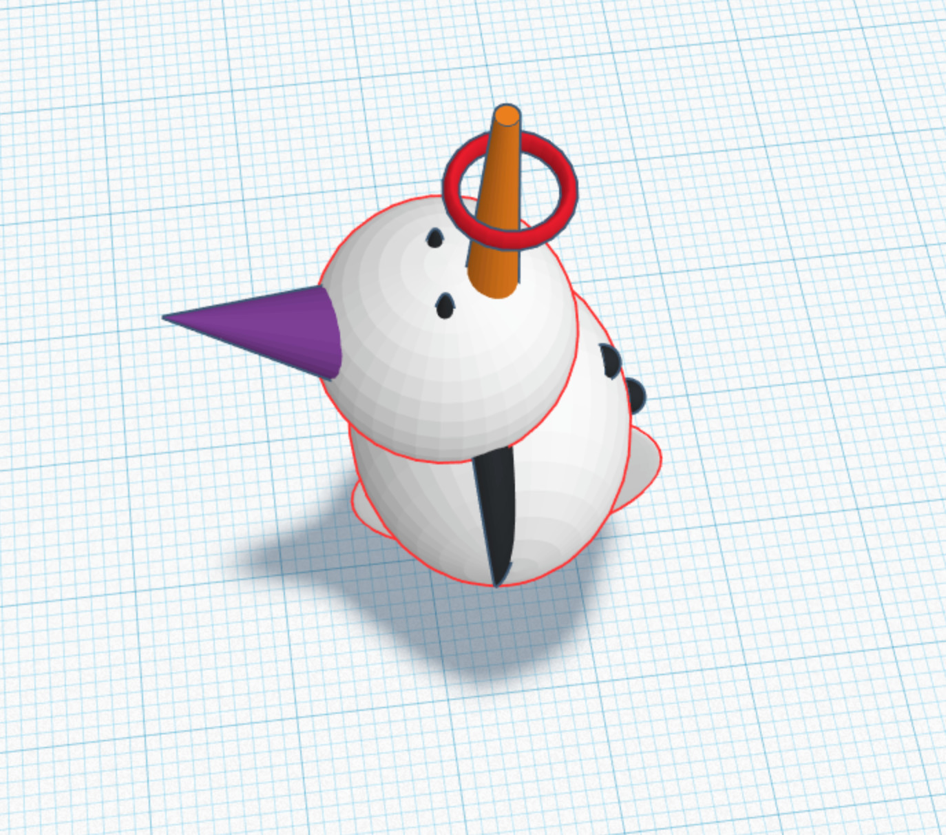 Snowman exercise Friendly clown - janelysc | ello