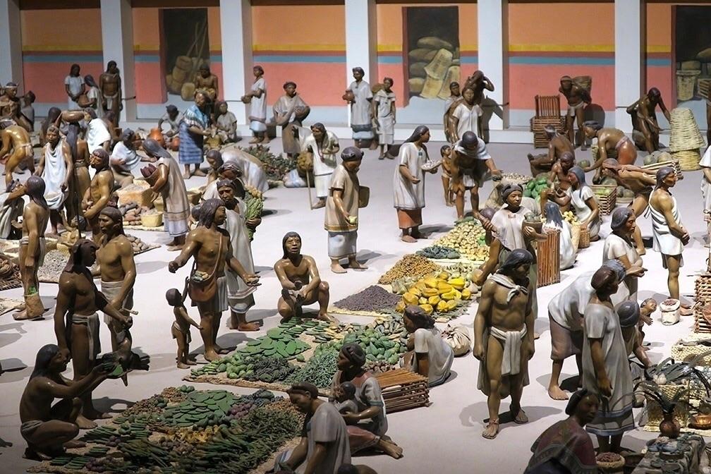 Miniature Aztec market Tenochti - helliongallery | ello