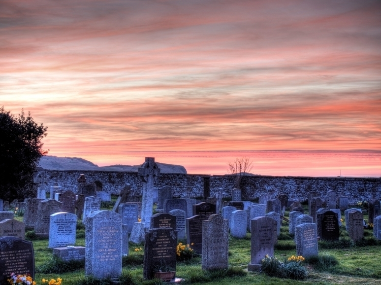 Sunset Bamburgh - Sun set grave - neilhoward | ello