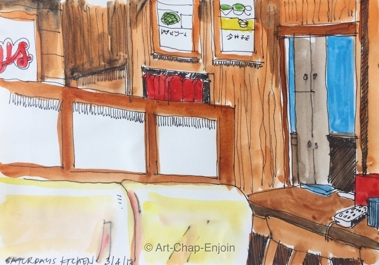 - Saturdays kitchen sketch rand - artchapenjoin | ello