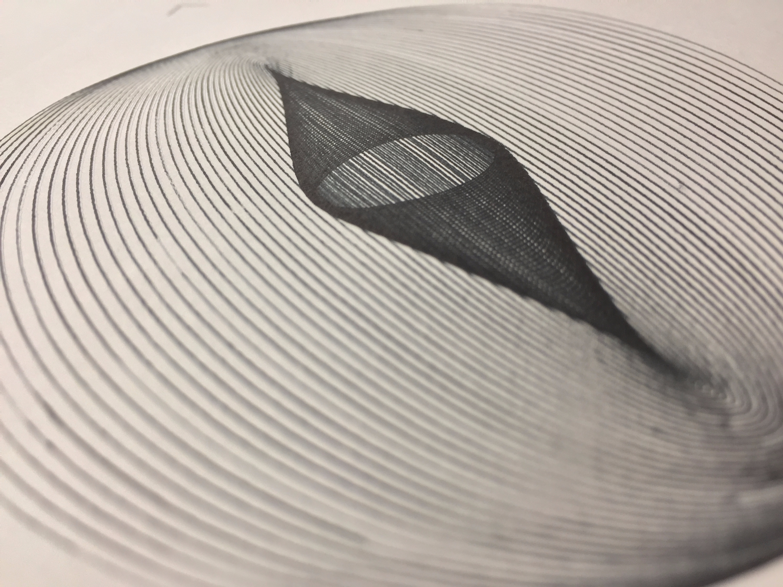 Harmonograph generated printed - ren0h   ello