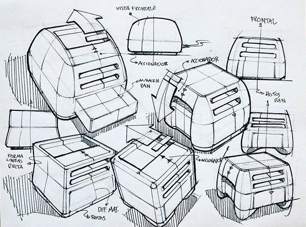 Quick toaster sketches Rodrigo  - letsdesigndaily | ello