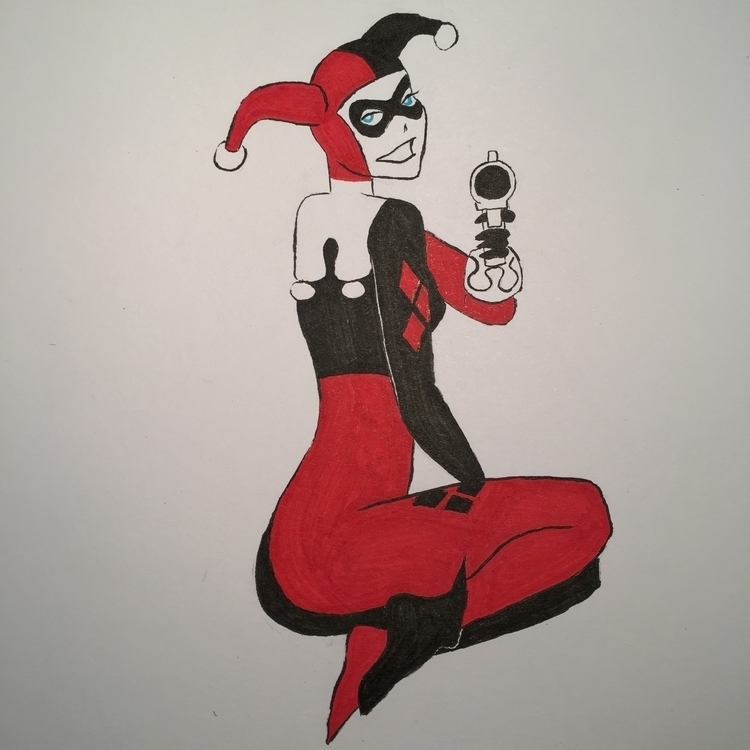 leave - HarleyQuinn, drawing, lyrics - talonracer | ello