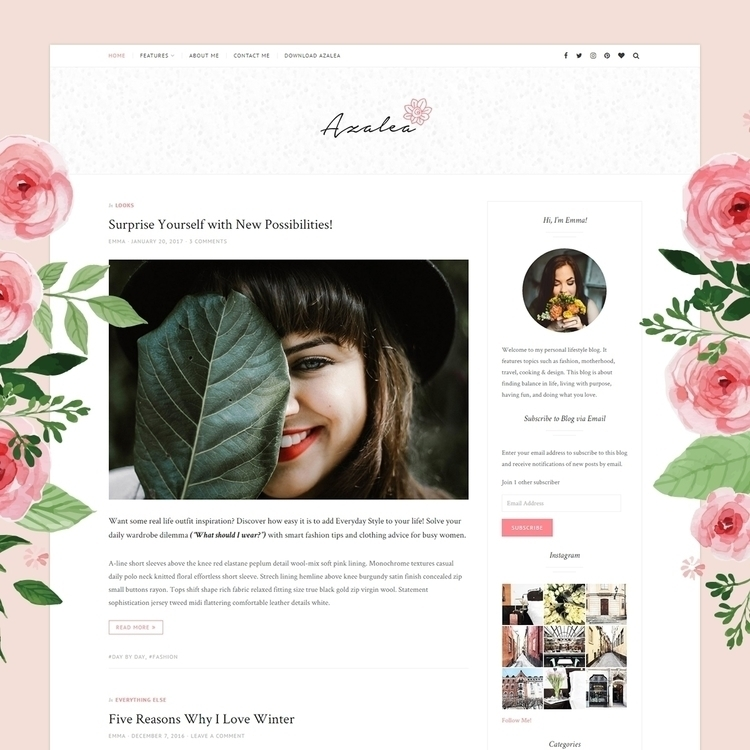 Meet Azalea! fresh, theme downl - justgoodthemes | ello