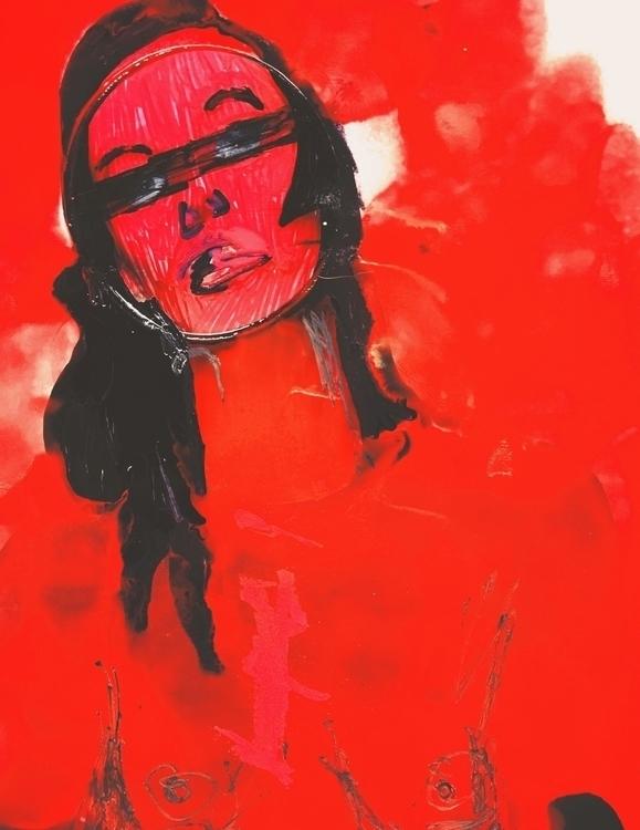 Weapon Choice - art, portrait, duochrome - jkalamarz | ello
