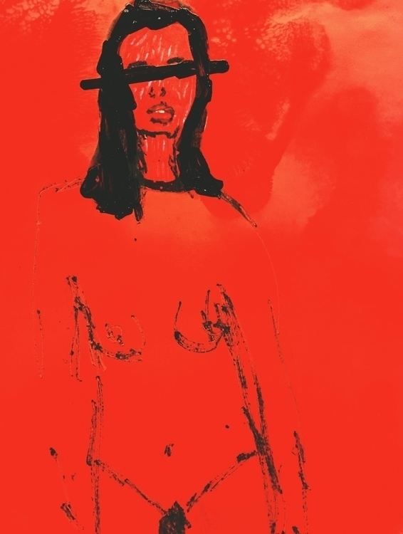 art, portrait, red - jkalamarz   ello
