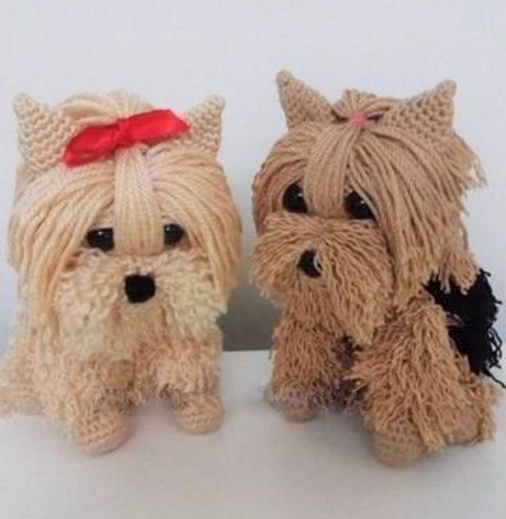 delighted puppies, gracefully c - brunacrochet | ello