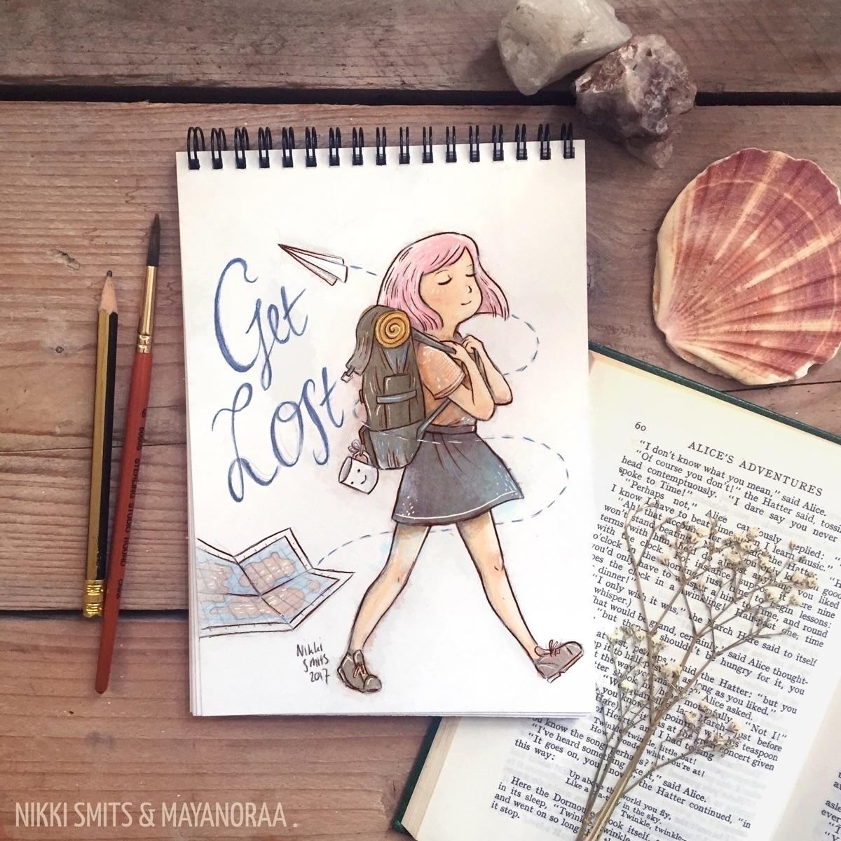Illustration Mayanoraa - travel - nikkismitsillustration | ello
