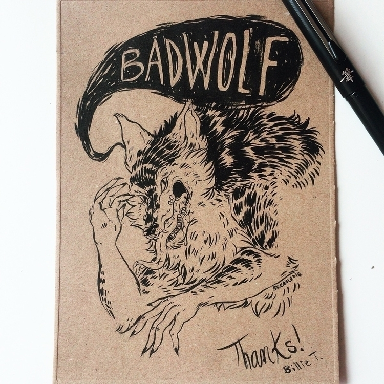 Badwolf - wolf, badwolf, canine - skeenep | ello