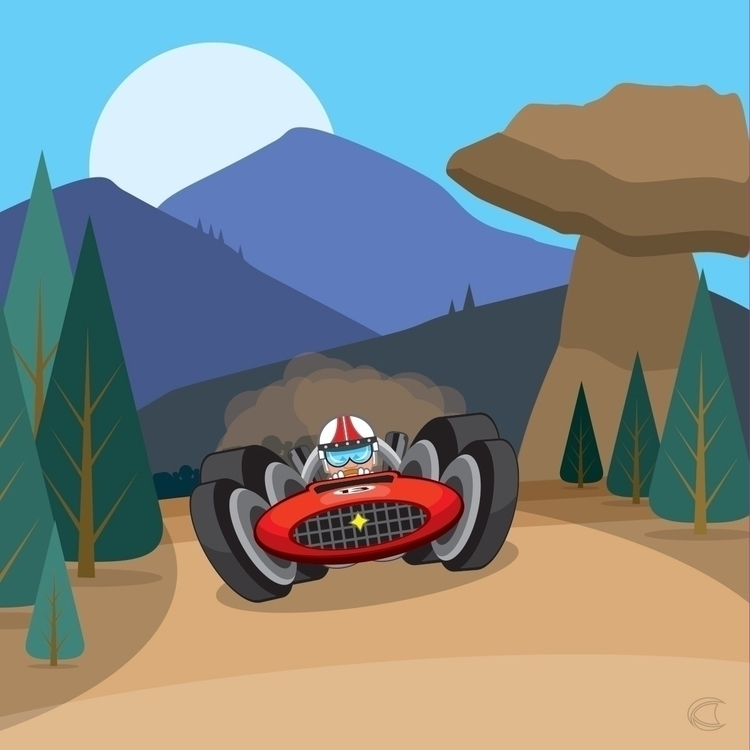 Vrooom - vector, vectorart, illustration - cliff-c-black | ello