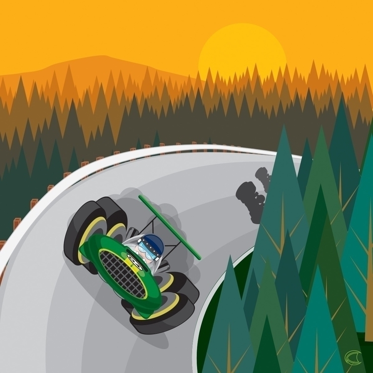 Vrooom! 2 - vector, vectorart, illustration - cliff-c-black | ello