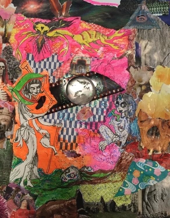Apocalypse Garden collage, pen  - jgblitz | ello